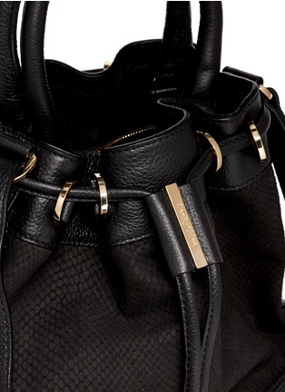 Detail View - Click To Enlarge - See by Chloé - 'Vicki' small python embossed leather bucket bag