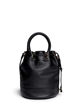 Back View - Click To Enlarge - See by Chloé - 'Vicki' small python embossed leather bucket bag
