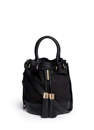 Main View - Click To Enlarge - See by Chloé - 'Vicki' small python embossed leather bucket bag