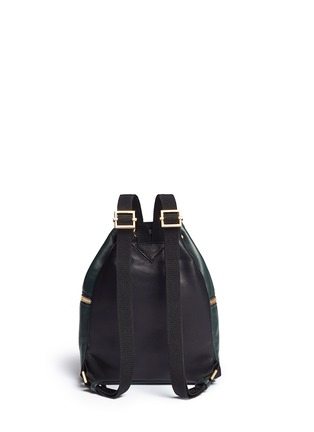 Back View - Click To Enlarge - Marni - 'Zaino' mini leather drawstring zip backpack
