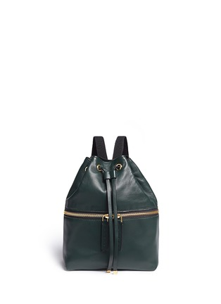 Main View - Click To Enlarge - Marni - 'Zaino' mini leather drawstring zip backpack