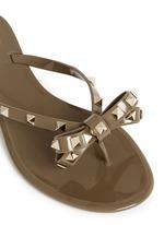 'Rockstud' bow flat jelly sandals