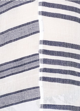 Lemlem-'Zare' stripe split cotton tunic cover-up