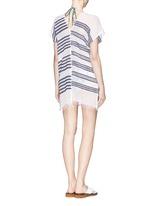 'Zare' stripe split cotton tunic cover-up