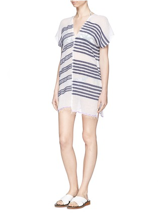 Figure View - Click To Enlarge - Lemlem - 'Zare' stripe split cotton tunic cover-up