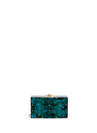 Back View - Click To Enlarge - RAFÉ - 'Alicia' acetate box clutch