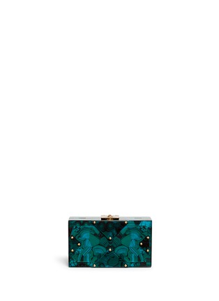 Main View - Click To Enlarge - RAFÉ - 'Alicia' acetate box clutch