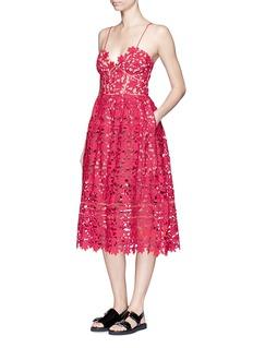 SELF PORTRAIT'Azaelea' sweetheart neck floral lace dress
