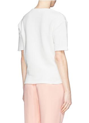 Back View - Click To Enlarge - Acne Studios - 'Mattia Str' honeycomb knit T-shirt