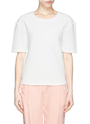 Main View - Click To Enlarge - Acne Studios - 'Mattia Str' honeycomb knit T-shirt