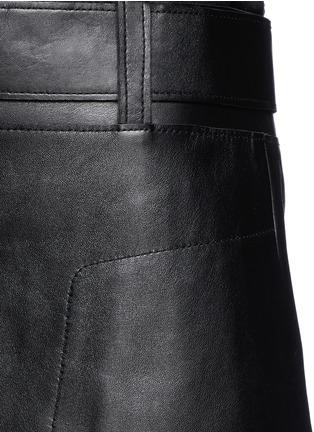 细节 - 点击放大 - 3.1 PHILLIP LIM - Leather A-line skirt