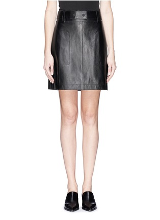 3.1 Phillip Lim - Leather A-line skirt