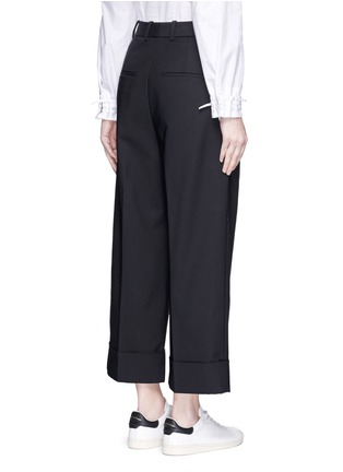 Back View - Click To Enlarge - 3.1 Phillip Lim - Foldup cuff wide leg cropped pants