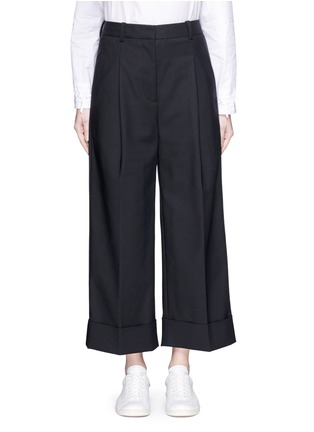 Main View - Click To Enlarge - 3.1 Phillip Lim - Foldup cuff wide leg cropped pants