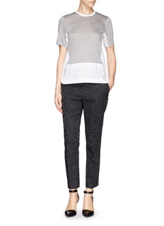 3.1 PHILLIP LIM Jersey and poplin combo T-shirt