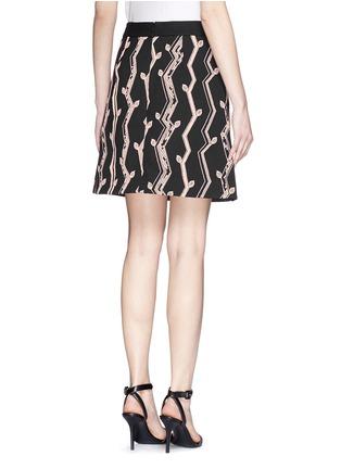 3.1 PHILLIP LIM-Angled vines pencil skirt