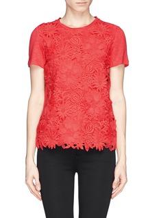 TORY BURCH'Katama' floral lace linen jersey T-shirt