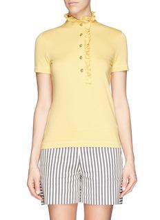 TORY BURCH'Lidia' ruffle polo shirt
