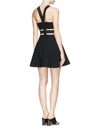 Back View - Click To Enlarge - Elizabeth and James - 'Kayne' cutout waist textured dress