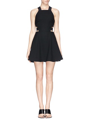 Main View - Click To Enlarge - Elizabeth and James - 'Kayne' cutout waist textured dress