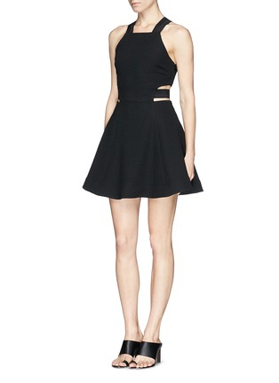 Figure View - Click To Enlarge - Elizabeth and James - 'Kayne' cutout waist textured dress