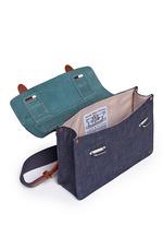 Zazie leather denim mini satchel
