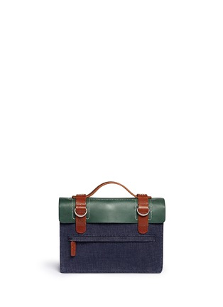 Back View - Click To Enlarge - SEVENTY EIGHT PERCENT - Zazie leather denim mini satchel
