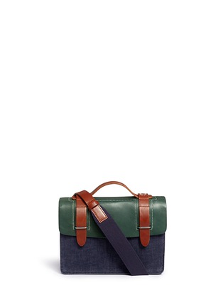 Main View - Click To Enlarge - SEVENTY EIGHT PERCENT - Zazie leather denim mini satchel