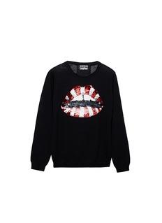 MARKUS LUPFER'Candy Cane Stripe' Lara Lip sequin Natalie kids sweater