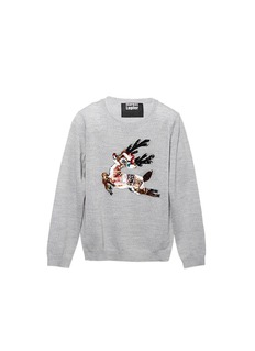 MARKUS LUPFER'Christmas Reindeer' sequin Natalie kids sweater