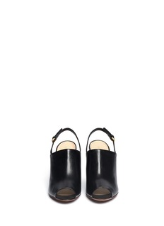 SERGIO ROSSISling-back leather mules
