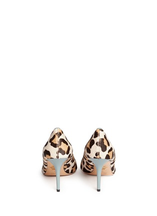 Back View - Click To Enlarge - Charlotte Olympia - 'Desirée' leopard print calf hair pumps