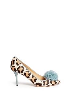 CHARLOTTE OLYMPIADesirée leopard print calf hair pumps
