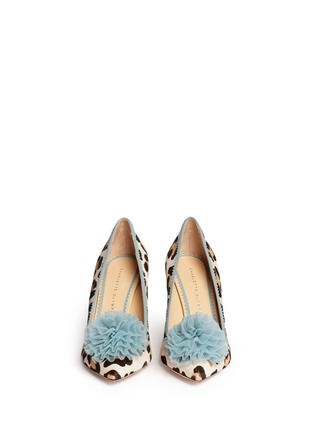 Figure View - Click To Enlarge - Charlotte Olympia - 'Desirée' leopard print calf hair pumps