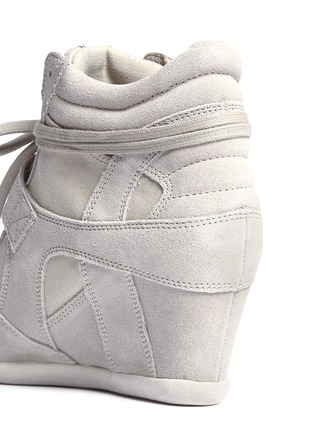 Detail View - Click To Enlarge - Ash - 'Bowie' suede wedge sneakers