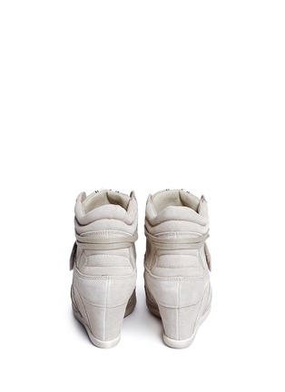 Back View - Click To Enlarge - Ash - 'Bowie' suede wedge sneakers