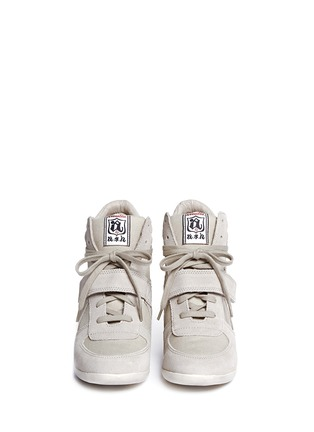 Figure View - Click To Enlarge - Ash - 'Bowie' suede wedge sneakers