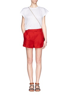 VALENTINO Crepe pleat front shorts