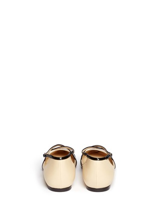 Back View - Click To Enlarge - Jimmy Choo - 'Gamble' cross strap leather flats