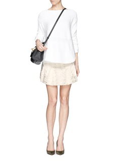 IRO'Ceres' quilted embroidery skirt