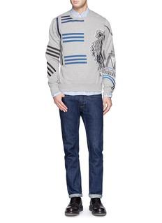 KENZO Stripe tiger embroidery Eiffel Tower sweatshirt