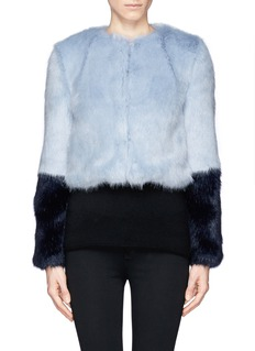 SHRIMPS 'Bailey' faux fur cropped jacket