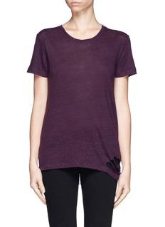 IRO'Poppy' distressed linen T-shirt