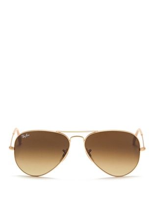 Main View - Click To Enlarge - Ray-Ban - 'Aviator Large Metal' sunglasses