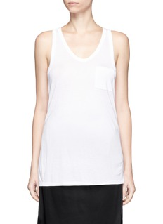 T By Alexander Wang Classic scoop neck pocket tank top
