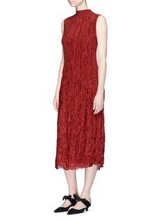 The Row'Lucky' plissé pleated silk dress