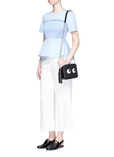 Anya Hindmarch 'Eyes' embossed leather crossbody bag