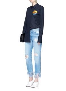 Stella McCartneySunset embroidered patch poplin shirt