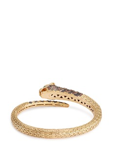 John Hardy Diamond sapphire tourmaline 18k yellow gold Macan bangle