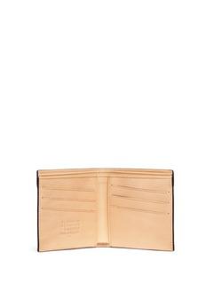Maison MargielaContrast stitch leather bifold wallet